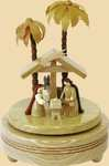 Erzgebirgische Spieldose Christi Geburt III mit Spieluhr