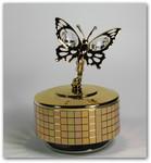 Schmetterling goldfarben mit Spieluhr