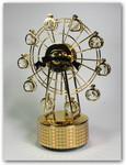 Riesenrad goldfarben aus Metall mit Spieluhr