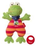Baby Spieluhr Kuscheltier Folunder Frog Sigikid mit Tasche