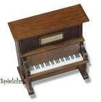 Holz-Klavier Spieluhr mit Melodie wählbar (Spieldose, Musikdose, Spieluhren, Instrument)