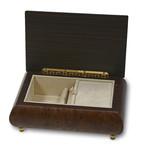 Holz-Schmuckschatulle Edelholz Intarsie mit Spieluhr