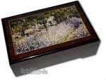 Bildlackschatulle Garten von Monet, mit Spieluhr