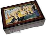 Bildlackschatulle A Sunday Afternoon on the Island of La Grande Jatte von Georges Seurat, mit Spieluhr