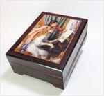 Bildschatulle 2 Mädchen am Klavier von Pierre Auguste Renoir, mit Spieluhr