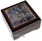 Bildlackschatulle Seerosen von Monet, mit Spieluhr