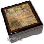 Bildlackschatulle Garten in Giverny von Monet, mit Spieluhr