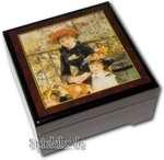 Bildlackschatulle Zwei Schwestern von Pierre-Auguste Renoir, mit Spieluhr