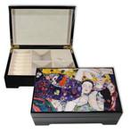 Bildlackdose Jungfrau von Gustav Klimt, mit Spieluhr