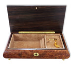 Große Schmuck-Schatulle Spieluhr XL Einlegearbeit Motiv: Instrumente, Melodie wählbar (Spieldose, Musikdose)