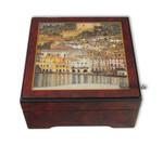 Bildlackdose Malcesine am Gardasee von Gustav Klimt, mit Spieluhr