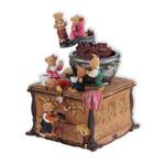 Spieluhr Kaffeemühle mit Bärchen
