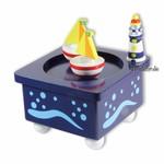 Tanzende Segelschiffe mit Spieluhr