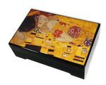 Bildlackdose Der Kuss von Gustav Klimt mit Spieluhr
