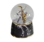 Schneekugel Saxophon mit Spieluhr