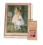 Schmuck-Schatulle rosa mit schöner Maserung und wählbarer Spieluhrmelodie