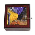 Bildlackschatulle Nachtcafe von Vincent van Gogh, mit Spieluhr