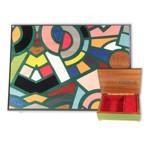 Schmuckschatulle Italienische Intarsie Tiffany Style und wählbarer Spieluhr-Melodie