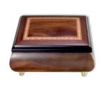 Matt glänzend lackierte Holzschatulle mit 18 Ton Musikwerk Spieluhrmelodie wählbar