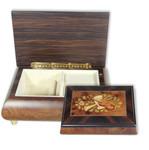 Holz Schmuckschatulle Spieluhr mit Intarsien Motiv Instrument, Melodie wählbar (Spieldose, Musikdose)