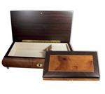 Schmuckschatulle mit Wurzelholzeinlage und 18 Ton-Melodie wählbar (Musikdose, Spieldose)