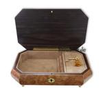 Schmuck-Schatulle Spieluhr mit abgefl. Ecken Intarsie Instrument, Melodie wählbar (Schmuckkästchen, Spieldose)