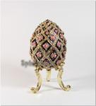 Schmuck- Ei nach Faberge Art im Blumen Design mit Spieluhr