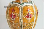 Schmuck- Ei nach Faberge Art mit Krone und Spieluhr