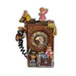 Nostalgisches Telefon mit Bärchen und Spieluhr