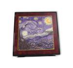 Bildlackdose Sternennacht von Vincent van Gogh, mit Spieluhr