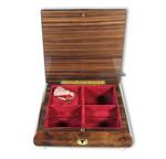 Schmuck-Schatulle mit einlackiertem Bild -das Geschichtsbuch- und wählbarer Spieluhr-Melodie