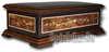 Musik-Schatulle mit detailreichen Holz-Einlegearbeiten und 50-Ton Spieluhr mit 2 Melodien