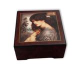Bildlackdose Proserpina von Dante Gabriel Rossetti, mit Spieluhr