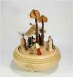 Erzgebirgische Spieldose Christi Geburt II natur mit Spieluhr