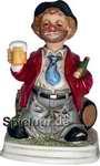 Porzellanfigur Pennerwilli mit Bierkrug
