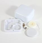 Weißes Kunststoffgehäuse mit Schnurzug für Artikel 2059