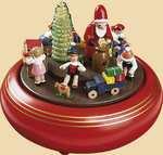 Erzgebirgische Spieldose Weihnachtsbescherung mit Spieluhr