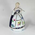Violine spielende Dame mit Spieluhr