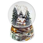 Schneekugel Winterwald mit Spieluhr
