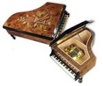 Großer Holz-Flügel mit edler Intarsienarbeit Melodie 23 Töne wählbar (Spieldose, Musikdose, Spieluhr Instrument)
