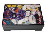 Bildlackdose Jungfrau von Gustav Klimt mit Spieluhr