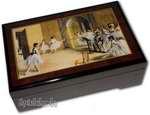 Bildlackschatulle Foyer de la Danse von Edgar Degas, mit Spieluhr