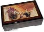 Bildlackschatulle Rivalinnen von L. Alma-Tadema, mit Spieluhr