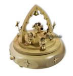 Erzgebirgische Spieldose Engelkonzert natur mit Spieluhr