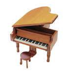 Holz-Flügel mit Spieluhren-Melodie wählbar (Spieldose, Musikdose, Spieluhren, Instrument)
