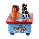 Tanzender L�we und Zebra mit Spieluhr