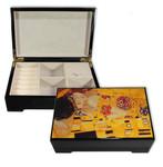 Bildlackdose Der Kuss von Gustav Klimt, mit Spieluhr