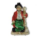 Porzellan-Figur Pennerwilli an der Lampe