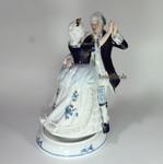 Tanzpaar aus Porzellan mit Spieluhr