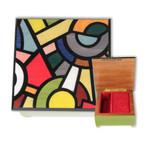Schmuckschatulle Italienische Intarsie mit Spieluhr-Melodie